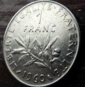 1 франк 1960 года цена куплю монету 1961 года