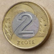 2 злотых 1994 гравировка монет